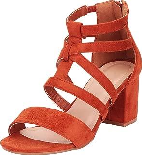 Women's Crisscross Strappy Mid Block Heel Sandal