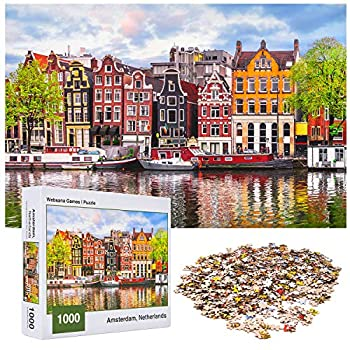 Websana Games - 1000 Piece Puzzles for Adults - Jigsaw Puzzle 1000 Pieces - Adult 1000 Piece Puzzle 1000 - Amsterdam Netherlands - 28  x 20  2mm
