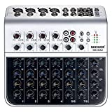 Neewer Stereo Mixer Compact Mini Mixing Console with 4 Channel 2-way Stereo Line...