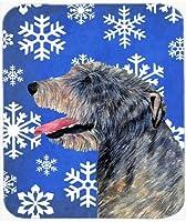 Caroline's Treasures Irish Wolfhound Winter Snowflakes Holiday Mouse Pad/Hot Pad/Trivet (SS4644MP) [並行輸入品]