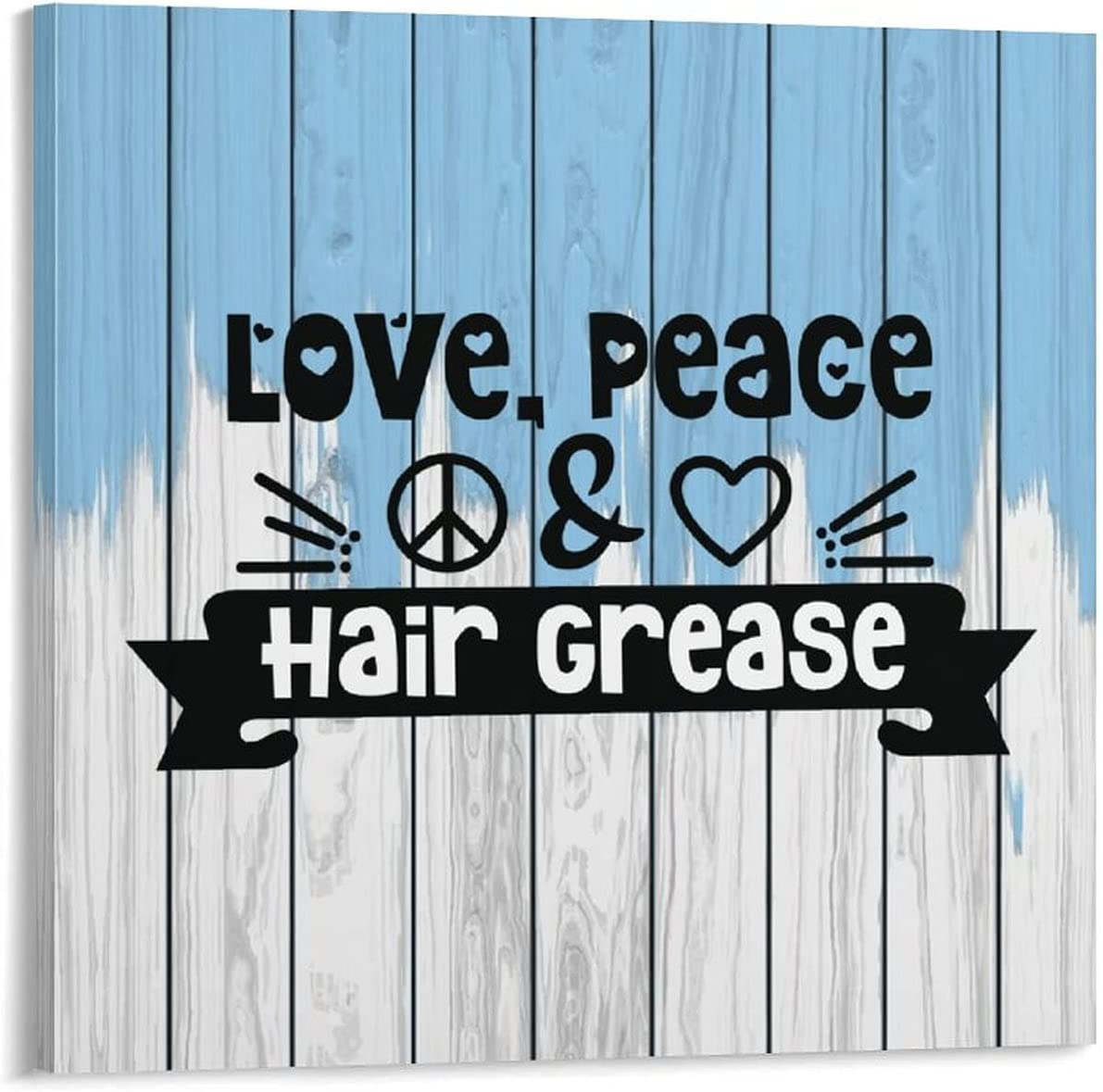 Canvas Print Signs Max 87% OFF Love Peace Hair Prints Grease Wall Decor for Max 53% OFF