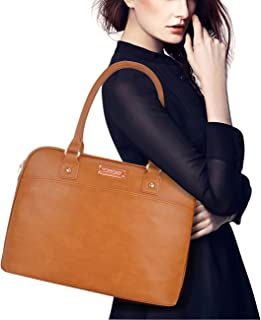 Laptop Tote Bag,15.6 Inch Laptop Bag for Women Classic Laptop Case Work Bags for Women[L0009/Brown]
