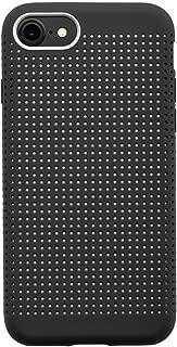 QDOS Matrix 超软触感液体硅胶手机壳适用于 iPhone 8/7 - 炭黑色