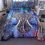 BH-JJSMGS Leichter Polyester-Bettbezug im Elefantenstil, Bettwäsche und Kissenbezug, Farbe Elephant.228 * 228
