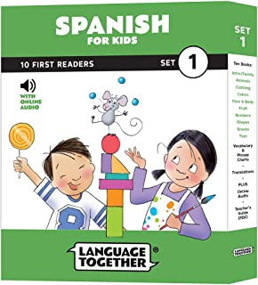 Spanish for Kids: 10 First Reader Books with Online Audio and English (Beginning to
