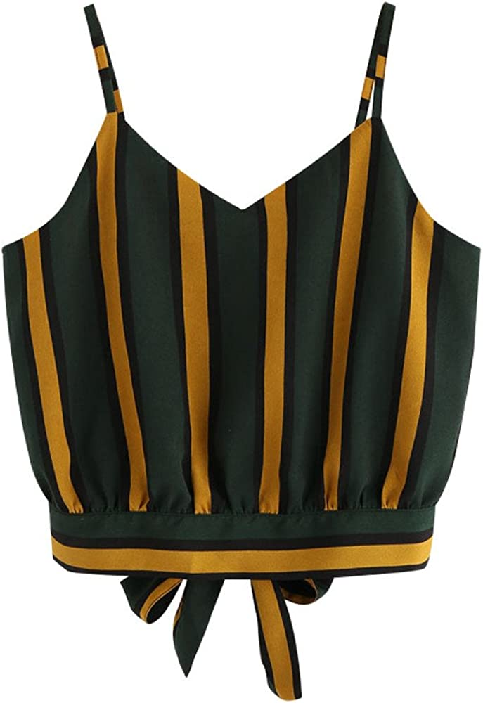 Hengshikeji_Women Tops Camisoles for Womens Tank Top Vest Sleeveless T Shirt Strappy Blouse Clearance Green