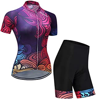 Cycling Skin Suit Summer Women's Short Sleeve Moisture Wicking Suit Wicking Breathable Cycling Jersey