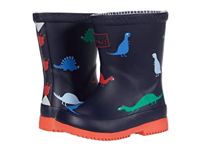 Joules Kids Welly Print (Toddler) (Navy Baby Dino) Boy