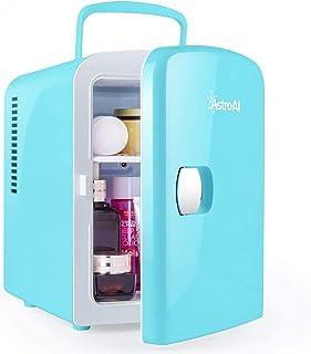 AstroAI 4L Mini Nevera Cosmeticos Pequeña Portátil 12 V/220 V para Coche y Casa, Tanto en Frío Como en Calor 0-66°C (blue)