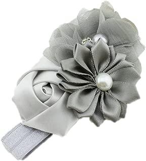 Jojckmen Baby Girl Hair Band Flower Pearl Headwear For 3-36 Months