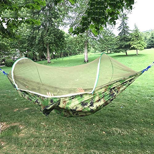 Lsmaa Household Outdoor Hammock Swing Single Double Parachute Cloth Wild Child Out Anti-mosquito Bed (Color : D, Size : M) (Color : B, Size : Large)