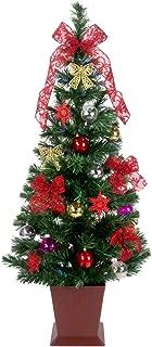 クリスマスツリー ファイバー セットツリー 四角ポット付 Moda レッド LEDファイバー セット 120cm