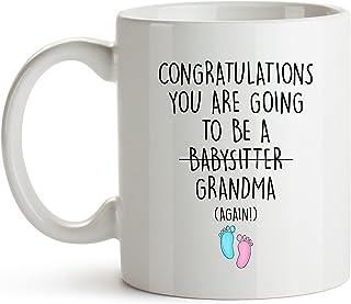 YouNique Designs Grandma Again Coffee Mug, 11 Ounces, Grandma Again Announcement Coffee Mug, Youre Going to Be A Grandma A...