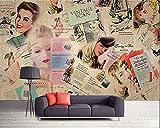 XQJBH Papier peint autocollant mural 3D affiche pour enfants nostalgique étoile magazine carte de publicité...