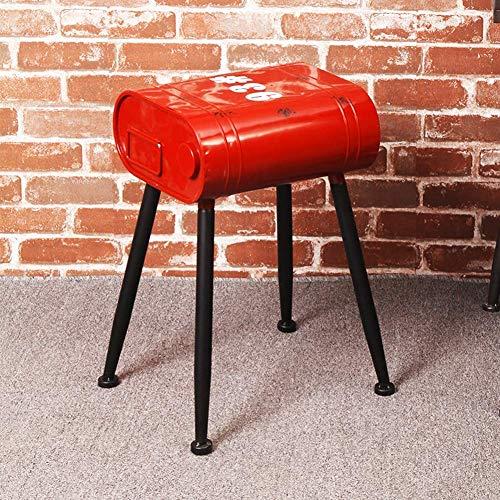 Piezas mecánicas Taburete de tambor de aceite Viento industrial Retro Hierro Arte Restaurante Bar Taburete alto Sofá Taburete Decoración Mesa de comedor Taburete de asiento Taburete de mostrador De