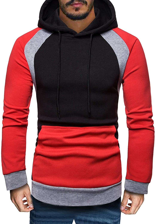 Men's Fashion Hoodies Sweatshirts Color Block Sleeve Crew Financial sales sale Long sold out