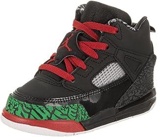 sale retailer 3da20 68612 Jordan Nike Toddlers Spizike Bt Black Varsity Red Basketball Shoe 6 Infants  US