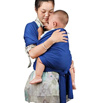 My miumiu Baby Straps Baby Wrap Carrier Baby Carrier (Blue)