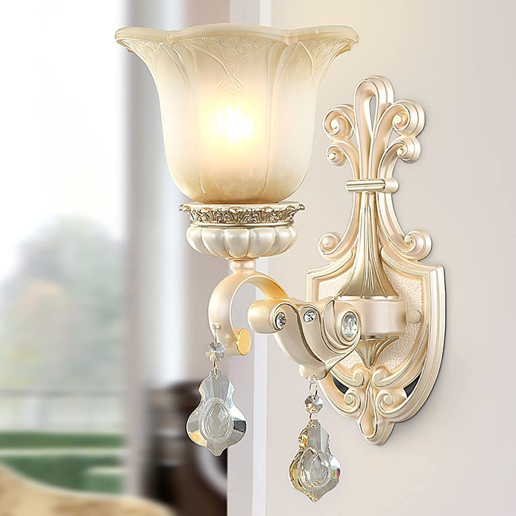 YUN free HAI Rural Crystal Resin Wall New Orleans Mall European Gilt St Relief Sconces