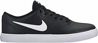 SB Check Solarsoft Leather Unisex Skate Shoes Black/White (10.5 D US)