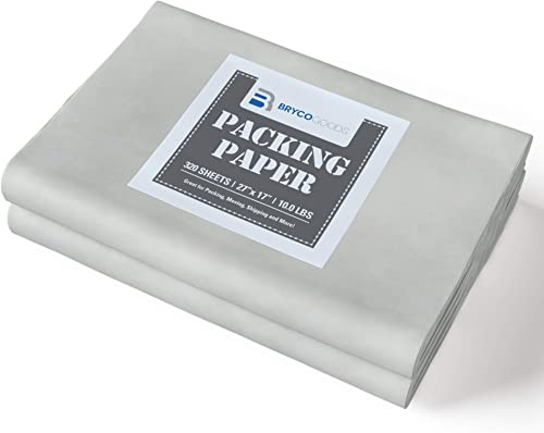 """Packing Paper Sheets for Moving - 10lb - 320 Sheets of Newsprint Paper - Must Have in Your Moving Supplies - 27"""" x 17..."""