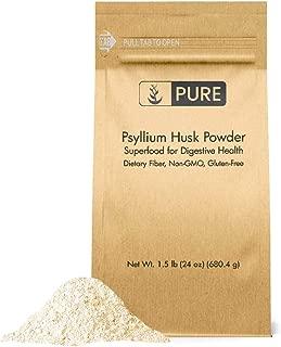 Psyllium Husk Powder (1.5 lb.) by Pure Organic Ingredients, Fiber Powder Supplement, Additive for Gluten-Free Baking