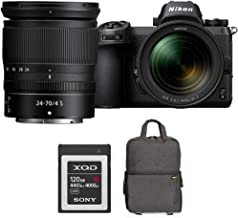 Nikon Z6 24.5MP FX-Format 4K Mirrorless Camera with NIKKOR Z 24-70mm f/4 S Lens Bundle with Sony 120GB Memory Card, Photo ...