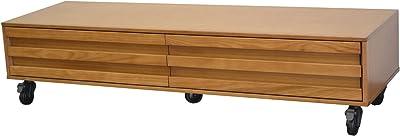 ライフスタイリングショップ テレビボード ストライプモダン 木製 テレビ台 オフホワイト 天然木 幅150cm AN-122OWH