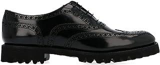 CHURCH'S Women's DE01699XVF0AAB Black Leather Lace-Up Shoes