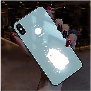 IPhone12Pro Max 用 ケース 6.7 インチ スマートコールライト 強化ガラス 指紋防止 ワイヤレス充電iPhone 12 Pro/iPhone 12 TPUシリコンオールインクルーシブプロテクション 12miniユニークな個性と...