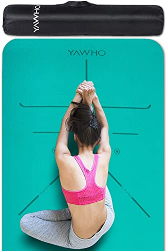 Yoga Mat Fitness Mat Eco Friendly Material SGS Certified Ingredients TPE Specifications 72'' x 24'' Thickness 1/4-Inc...
