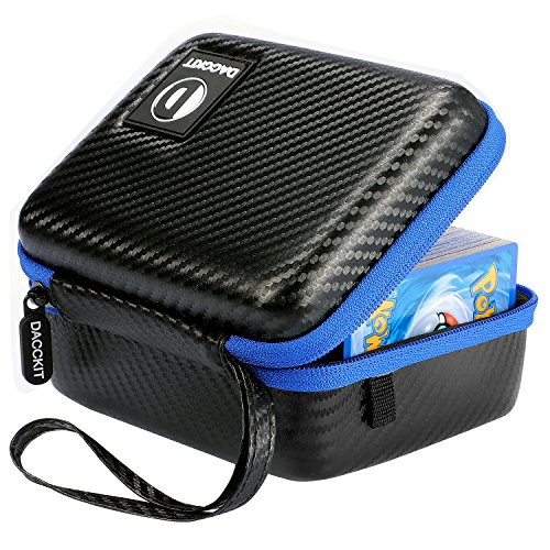D DACCKIT Carrying Case Compatible with Pokemon Cards - Fits Up to 400 Cards, Card Holder with Hand Strap and Carabiner image