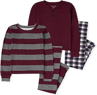 The Children's Place Boys' Plaid Striped Snug Fit Cotton Pajamas 2-Pack