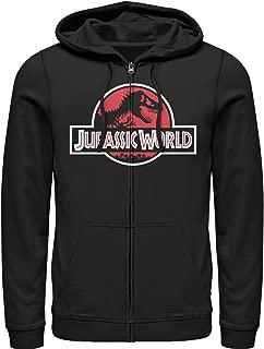 Jurassic World Men's Tyrannosaurus Rex Logo Zip Up Hoodie