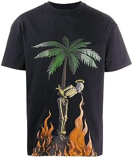 PALM ANGELS Luxury Fashion Mens PMAA001R204130341088 Black T-Shirt |