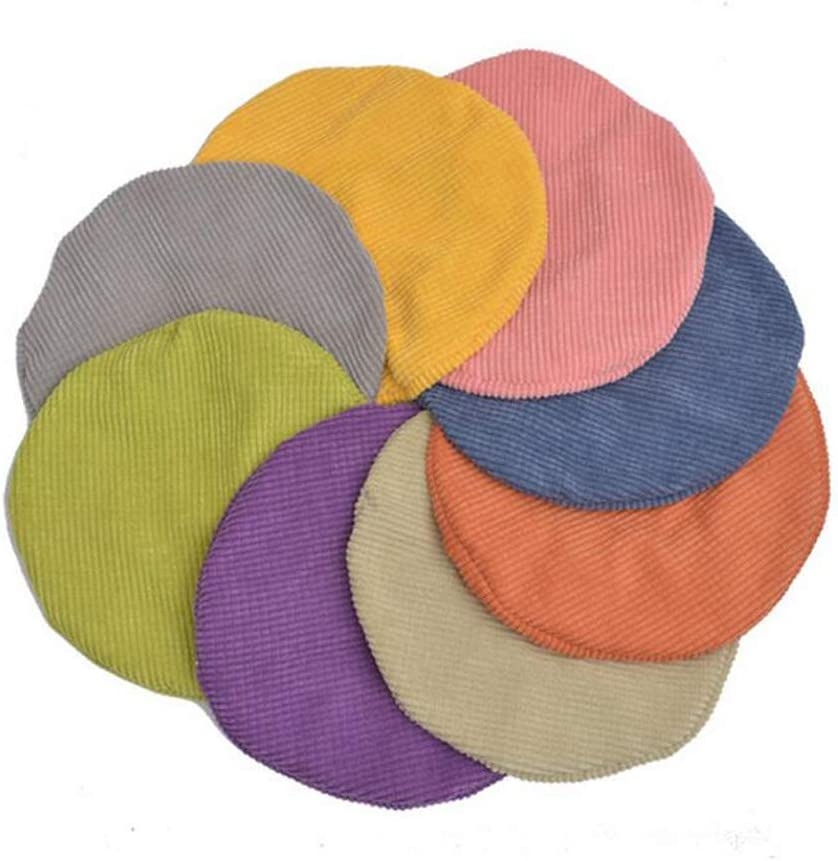Fenteer Stool Cover Round Chair Replacement Stretch Covers 25x25x5cm Gray