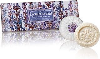 Jabón de lavanda, pack regalo 3 pastillas de 100 g, Jabón artesanal italiano de Saponificio Artigianale Fiorentino
