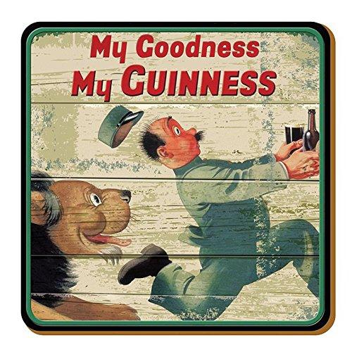 McLaughlin's Irish Shop Guinness - Sottobicchiere in legno, motivo: leone e zoo