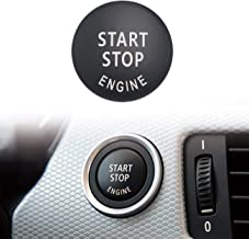 Partol Car Engine Start Stop Switch Button Cover For BMW E60 E70 E71 E72 E83 E84 E90 E91 E92 E93 3/5 Series, Engine Switch Power Ignition Start Stop Button Replacement (Black)