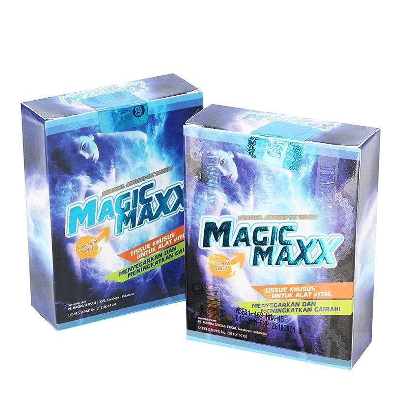 パドル憧れ書くマジックマックス MAGIC MAXX ウェット ティッシュ 8枚入2箱セット WEED社製日本語取説付