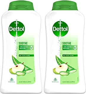Dettol Body Wash and Shower Gel, Soothe - 250ml Each (Pack of 2)