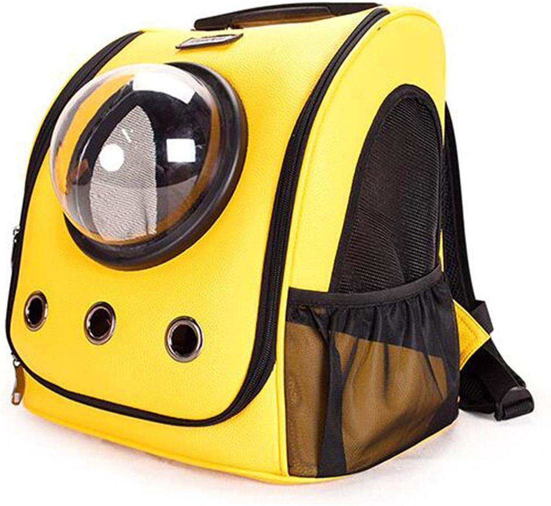 Pet Backpack Cat and Dog Out Convenient Backpack Space Transparent Cabin PU Bag Ventilation Cat Bag Pet Bag