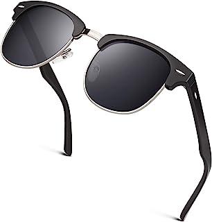 Classic Horn Rimmed Semi Rimless Polarized Sunglasses for...