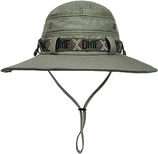 LETHMIK Waterproof Fishing Sun Boonie Hat, Summer Wide Brim UV Protection Safari Cap Outdoor Hunting Hat for Men&Women