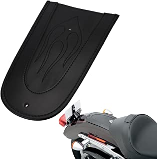 Motorcycle Black PU Leather Flame Mustang Rear Fender Bib Solo Seat For Harley Sportster 883 1200 XL 48 72 2004-2017