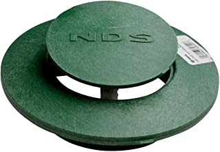 NDS 420 Pop Up Drain Emitter Cover Spring Loaded 3 Inch and 4 Inch Green OEM Replacement Lawn Drainage Cover
