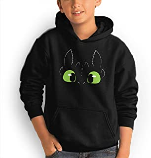 Youth Hoodie Toothless Dragon 100% Cotton Casual Long Sleeve Sweatshirt Pullover with Pockets for Boys and Girls