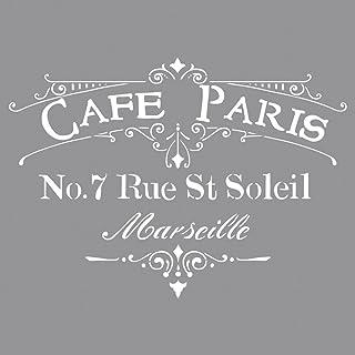 Rayher Pochoir à Motif Café De Paris Pochoir Lettre Pour La Création D Un  Joli Décor
