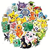 XINFA Anime Autocollants 17 pièces Dessins animés Anime Pokemon Autocollants Kawaii Pikachu GO Ordinateur Portable vélo Voiture Planche à roulettes Guitare Autocollant étanche drôle Enfants Jouets