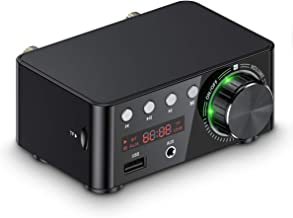 Amplificador de Audio Mini Bluetooth 5.0 con USB, Reproductor de música estéreo para el hogar o el Coche